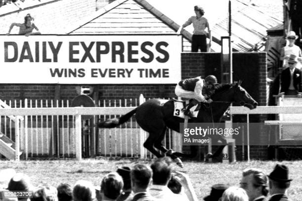 File picture dated June 3 1970 of Lester Piggott riding home Nijinsky in the 191st Derby Stakes at Epsom Piggott today announced his final retirement...