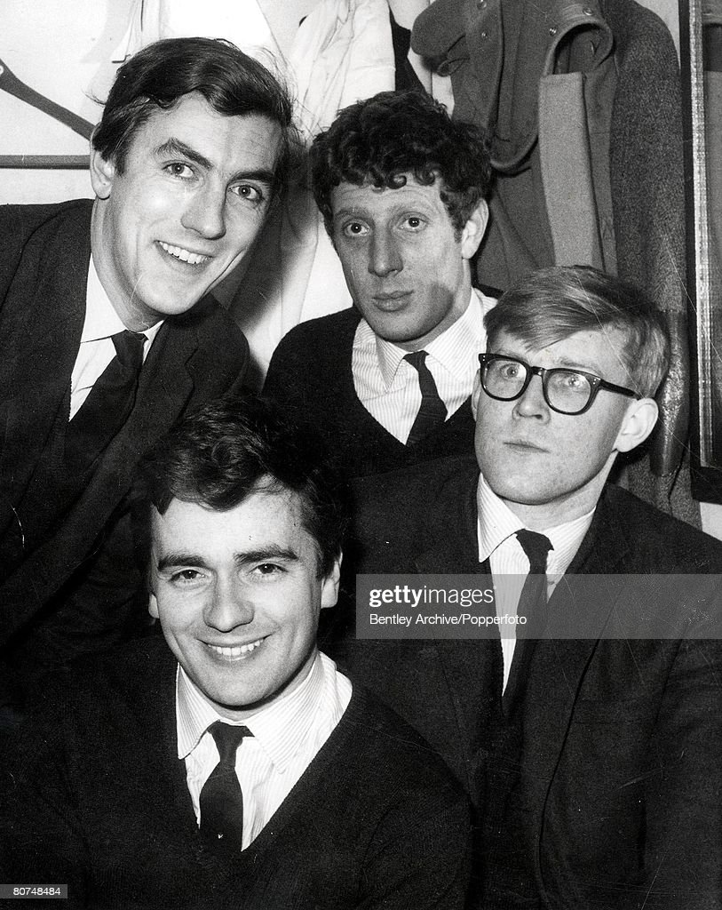 File Picture dated March 1962 The four members of the allmale cast of the popular antiestablishment revue 'Beyond the Fringe' Left to right Peter...