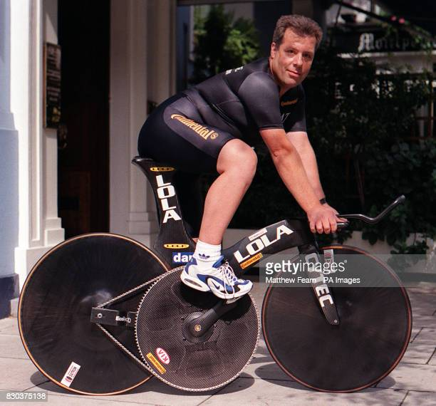 File picture from 28/08/97 of cycle designer Bruce Bursford from Norfolk killed in a collision with a lorry in February 2000 A coroner paid tribute...