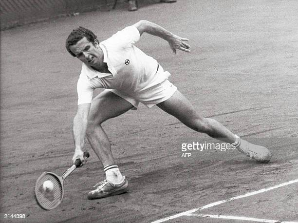 File picture of Belgian tennis player Patrick Hombergen during his match against Nignot at the Belgium National championschips 20 July 1975 in...