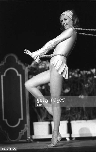 File picture of late US dancer and actress Cyd Charisse taken in Cannes on August 11 whose legs were insured for a million dollars in the heyday of...