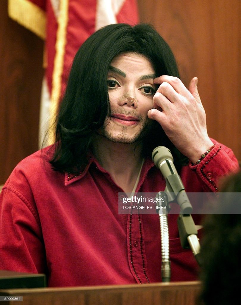 File picture of US entertainer Michael Jackson testifing in Santa Maria Superior Court 13 November 2002 in a trial in which he is accused of...