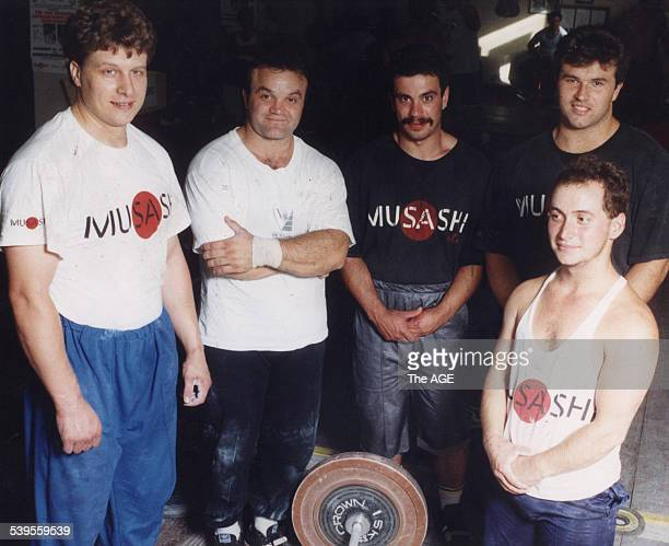 File picture of weightlifters Nico Vlad Blagoi Blagoev Kiril Kounev Stefan Botev and Sevdalin Marinov 2 March 1992 THE AGE SPORT Picture by SEBASTIAN...