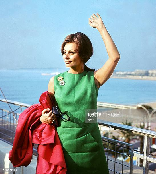 File picture shot during the Cannes Film Festival 1964 of Italian actress Sophia Loren