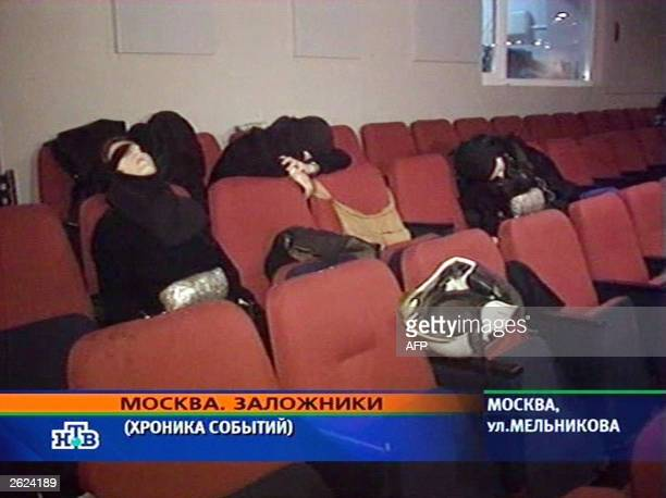 File picture showing A TV grab fom Russian television channel NTV shows the bodies of Chechen separatists killed after Russian special forces ended a...