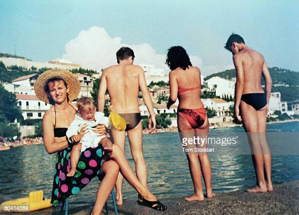 A file picture shows Gordana Burazor who was photographed with her baby son Andre in an iconic 1992 picture by Getty Images photographer Tom Stoddart...