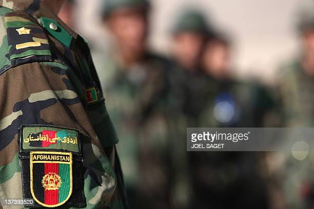 A file picture taken on January 13 2010 at the Kabul Military Training Camp near the capital shows Afghan National Army trainee officers attending a...