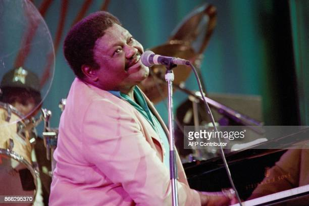 A file picture taken on July 14 1993 shows US pianist and singersongwriter Fats Domino performing on the piano during a concert at the Auditorium...