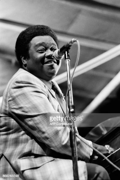 A file picture taken on July 16/17 1980 shows US pianist and singersongwriter Fats Domino performing during the Jazz Music Festival in Nice Fats...