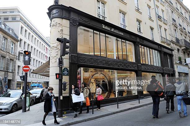 A file picture taken on March 1 2011 in Paris shows a shop of British designer John Galliano Galliano sacked as chief designer at Christian Dior amid...