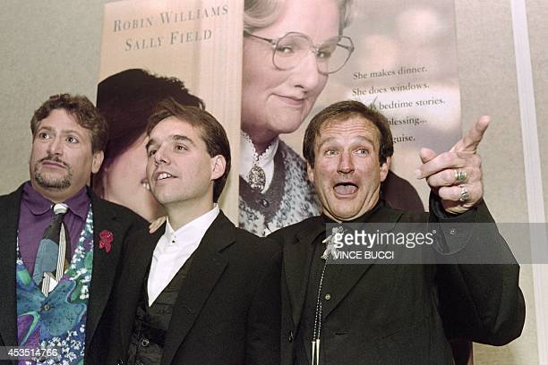A file picture taken on November 22 1993 in Beverly Hills shows US actor Robin Williams posing before a premiere of 'Mrs Doubtfire' Oscarwinning...