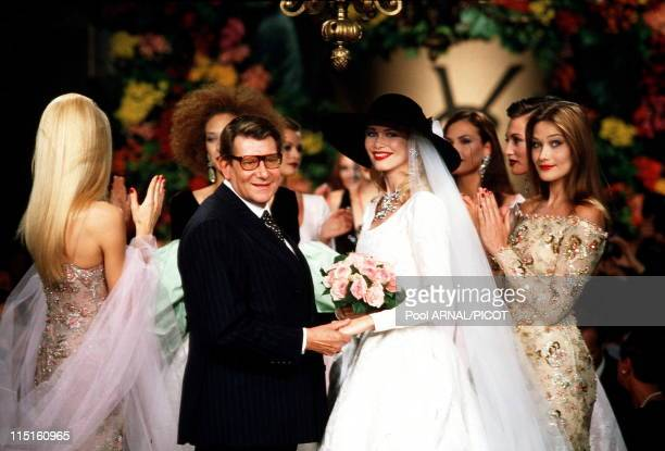 File pictures of Yves Saint Laurent in France in 1989 Yves Saint Laurent and Carla Bruni 1996