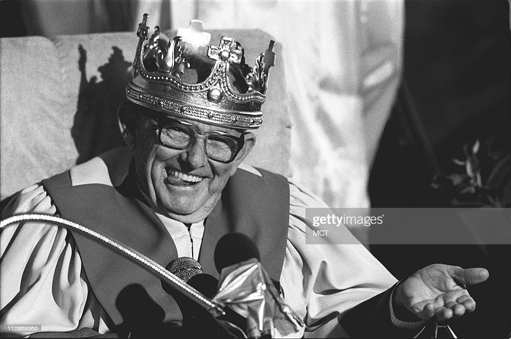File shot of Universal Life Church Rev Kirby J Hensley appears on April 11 1986 Hensley had proclaimed himself the 'King of Aqualandia' the land...