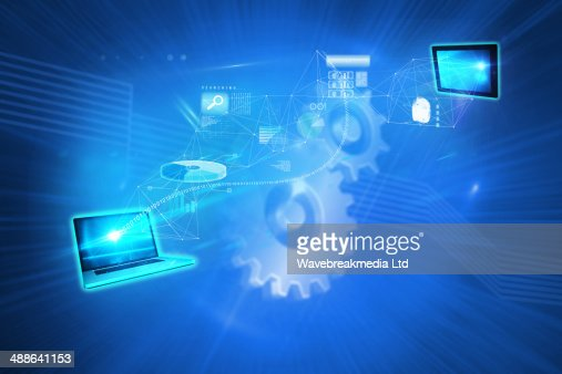 Composite image of file transfer background : Foto stock