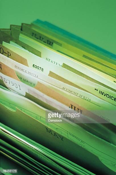 Files in accordion file