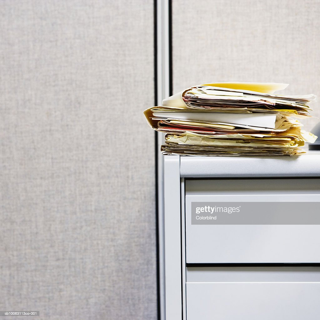 Files on desk : Stock Photo