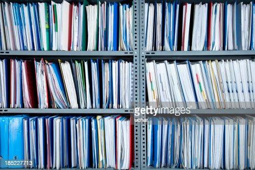 Archivos en el estante