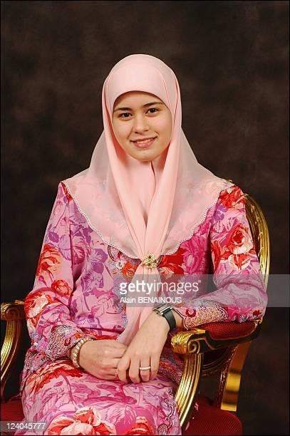 Files pictures of Crown Prince Haji Al Muhtadee Billah and Dayangku Sarah In Brunei Darussalam On September 07 2004 Dayangku Sarah