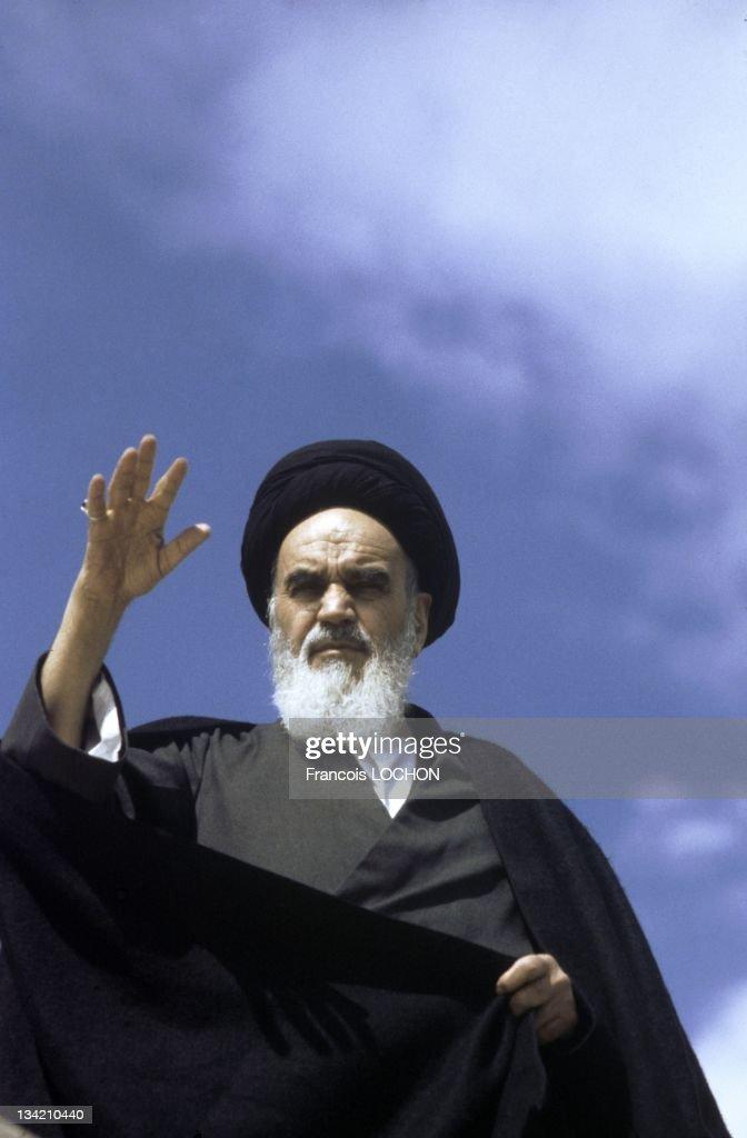 Files pictures of Iranian supreme leader Ayatollah Ruhollah Khomeini in January 24, 1984 in Iran.