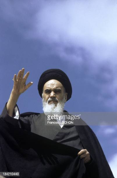 Files pictures of Iranian supreme leader Ayatollah Ruhollah Khomeini in January 24 1984 in Iran