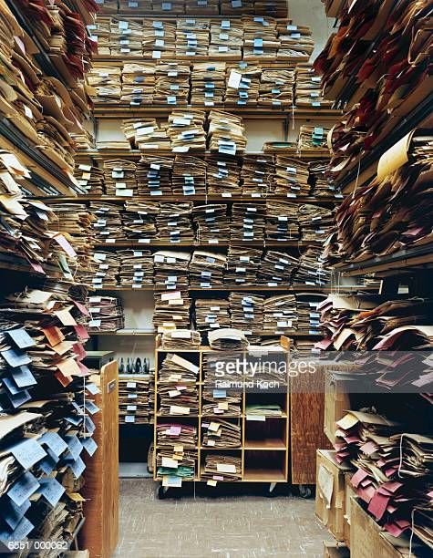 Files Stacked in Storage Room