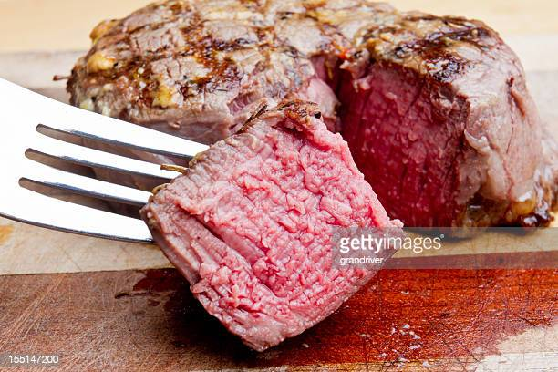 Filet Mignon Steak découpé avec en-cas