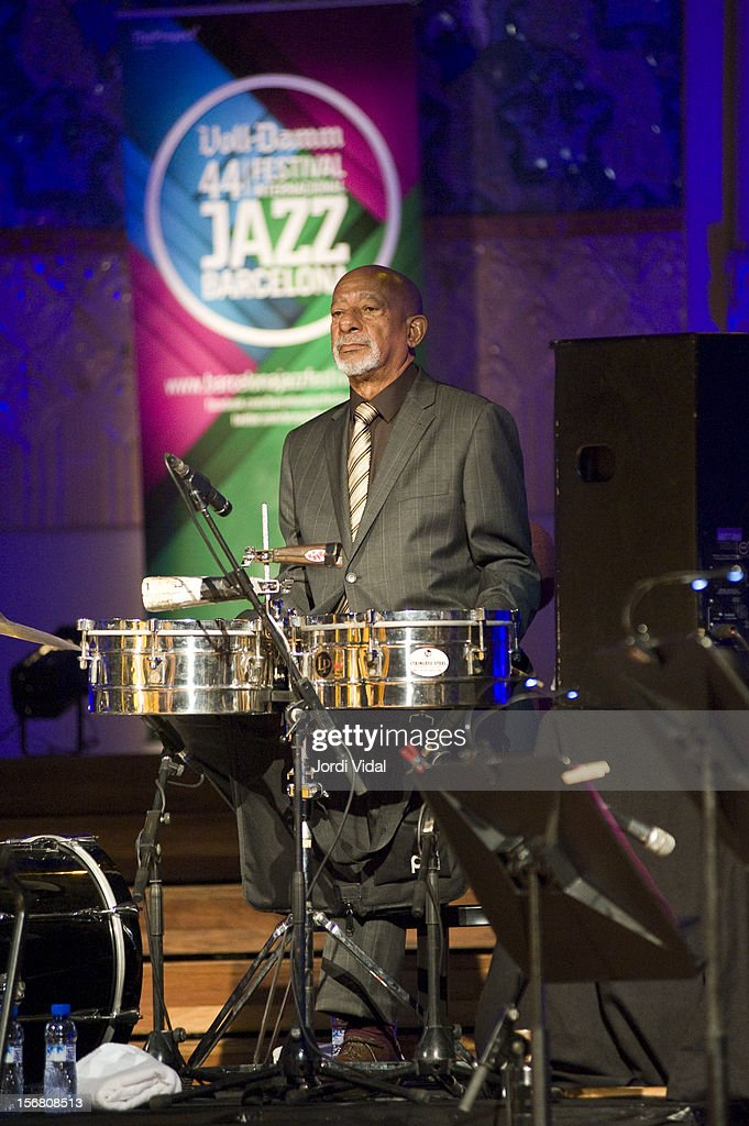 Filiberto Sanchez of Orquesta Buena Vista Social Club performs on stage during Voll-Damm Festival Internacional de Jazz de Barcelona at Palau De La Musica on November 21, 2012 in Barcelona, Spain.