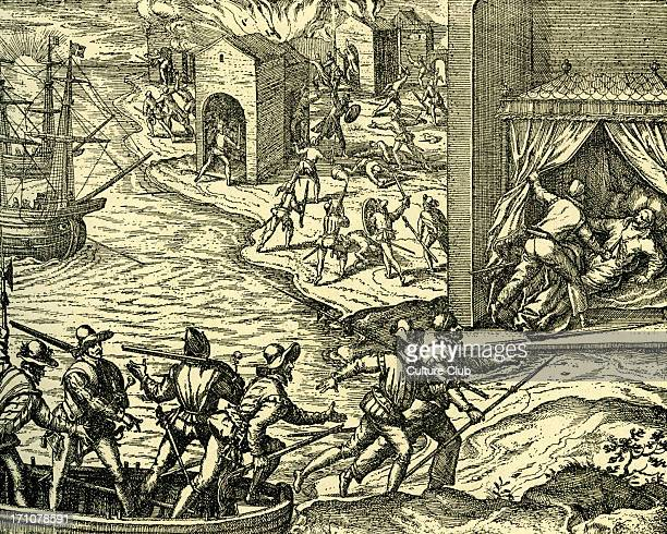 Filibusters at the Capture of Carthagena in 1555 Buccaneers sailors deserters seeking their forturnes on the high seas