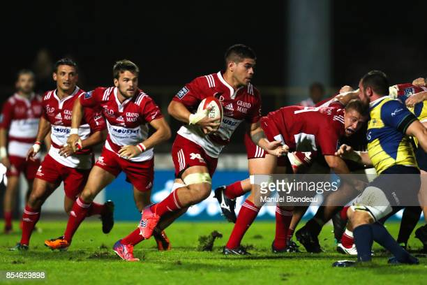 Filimo Taofifenua of Dax during the French Pro D2 match between Dax and Nevers on September 22 2017 in Dax France