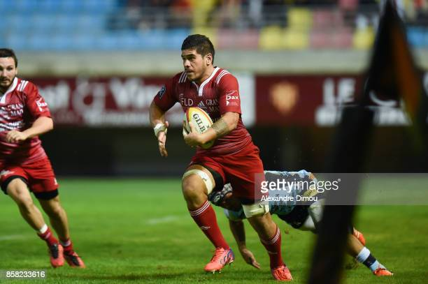 Filimo Taofifenua of Dax during the Pro D2 match between Perpignan and Dax on October 5 2017 in Perpignan France