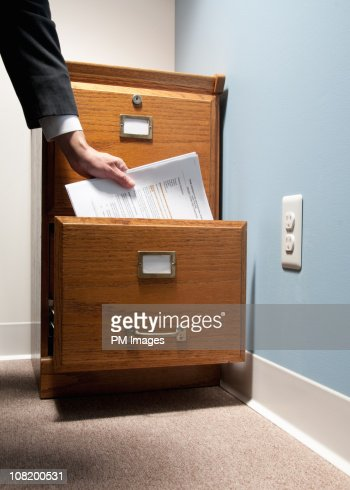Filing Papers : Stock Photo