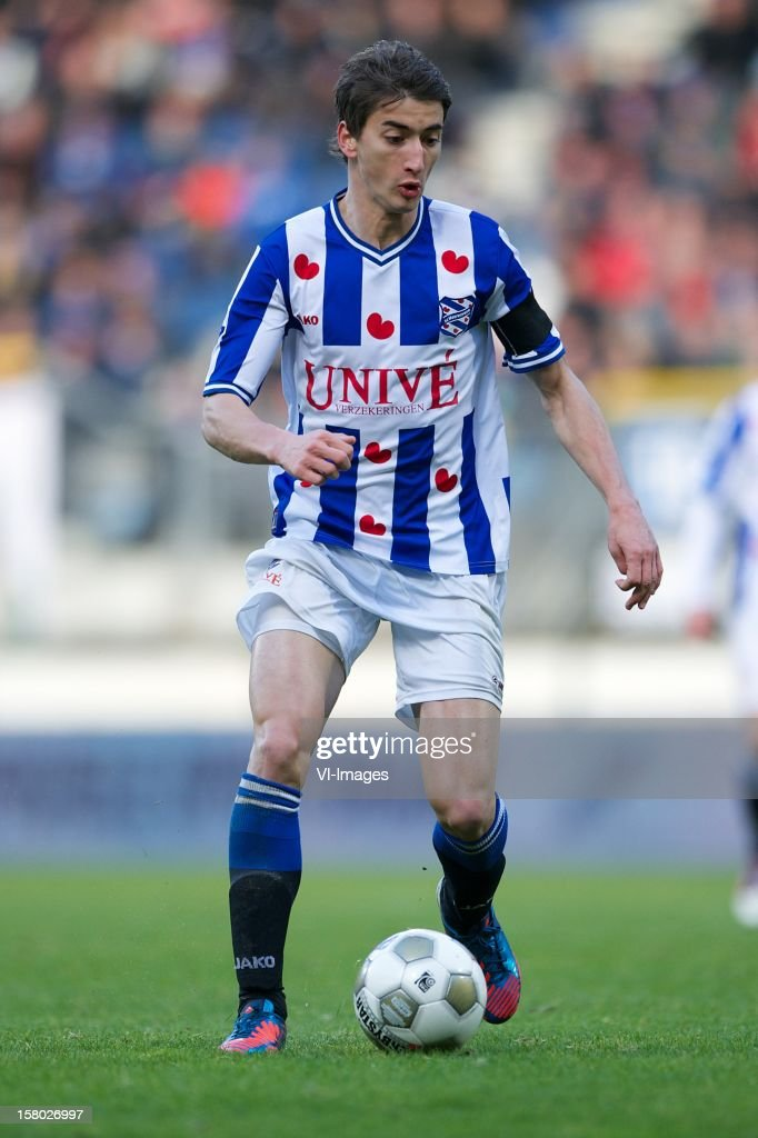 Filip Djuricic of SC Heerenveen during the Dutch Eredivisie match between SC Heerenveen and Roda JC Kerkrade at the Abe Lenstra Stadium on December 09, 2012 in Heerenveen, The Netherlands.