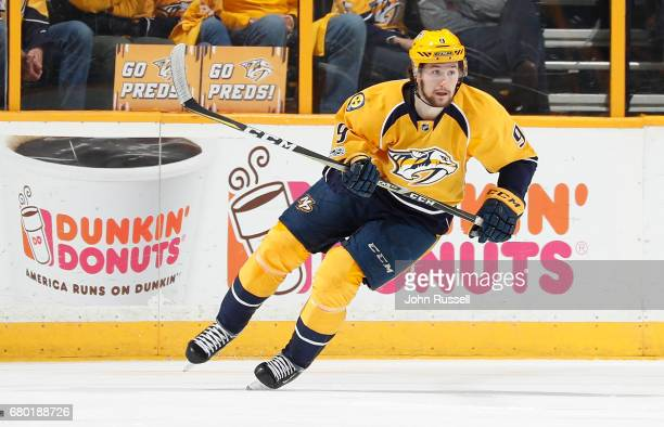 Filip Forsberg of the Nashville Predators skates against the St Louis Blues in Game Four of the Western Conference Second Round during the 2017 NHL...
