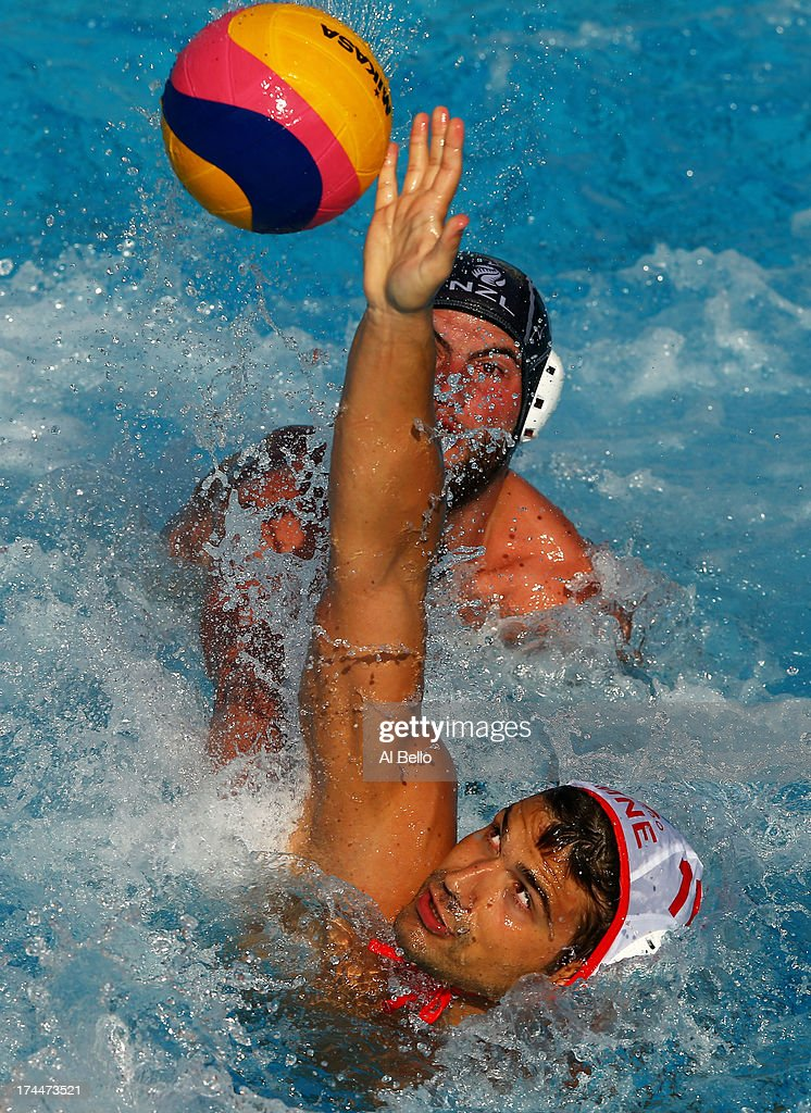 Filip Klikovak of Montenegro in action during the Men's Water Polo first preliminary round match between Montenegro and New Zealand on day seven of the 15th FINA World Championships at the Piscina Bernat Picornell on July 26, 2013 in Barcelona, Spain.