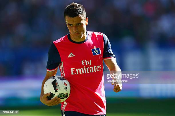 Filip Kostic of Hamburg during the preseason friendly match between Hamburger SV and Stoke City at Volksparkstadion on August 6 2016 in Hamburg...