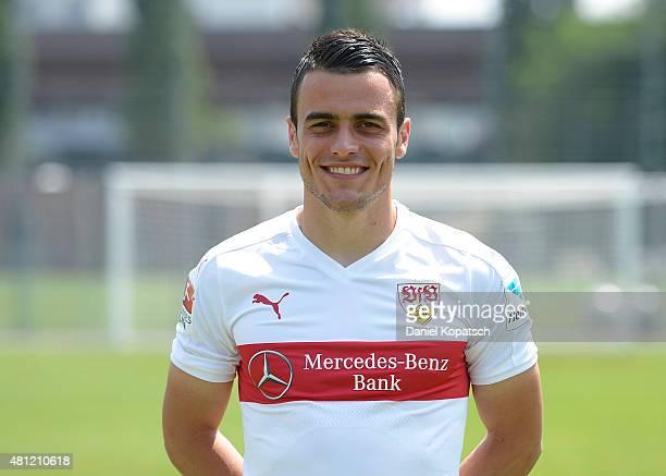 Filip Kostic poses during the VfB Stuttgart team presentation on July 17 2015 in Stuttgart Germany