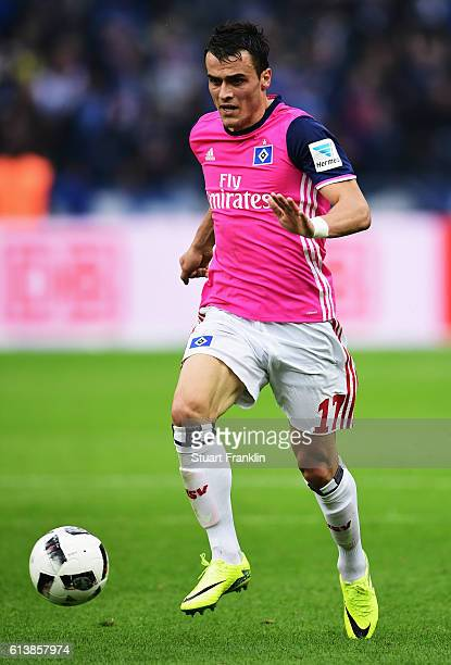 Filip Kosticof Hamburg in action during the Bundesliga match between Hertha BSC and Hamburger SV at Olympiastadion on October 1 2016 in Berlin Germany