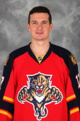 Filip Kuba of the Florida Panthers poses for his official headshot for the 20122013 NHL season on January 13 2013 in Coral Springs Florida