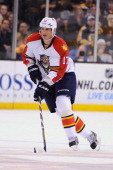 Filip Kuba of the Florida Panthers skates against the Boston Bruins at the TD Garden on March 14 2013 in Boston Massachusetts