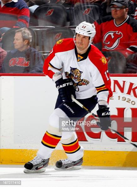 Filip Kuba of the Florida Panthers skates against the New Jersey Devils during the game at the Prudential Center on April 20 2013 in Newark New Jersey