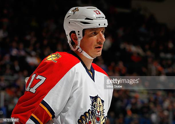 Filip Kuba of the Florida Panthers skates against the New York Islanders at Nassau Veterans Memorial Coliseum on March 24 2013 in Uniondale New York...