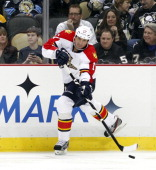Filip Kuba of the Florida Panthers skates against the Pittsburgh Penguins during the game at Consol Energy Center on February 22 2013 in Pittsburgh...