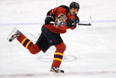 Filip Kuba of the Florida Panthers skates during a NHL game against the Toronto Maple Leafs at the BBT Center on February 18 2013 in Sunrise Florida