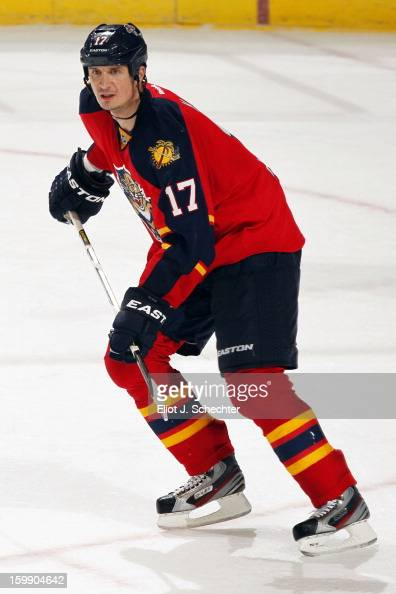 Filip Kuba of the Florida Panthers skates on the ice against the Carolina Hurricanes at the BBT Center on January 19 2013 in Sunrise Florida