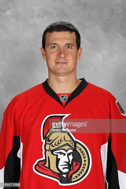 Filip Kuba of the Ottawa Senators poses for his official headshot for the 20102011 NHL season at Scotiabank Place on September 17 2010 in Ottawa...
