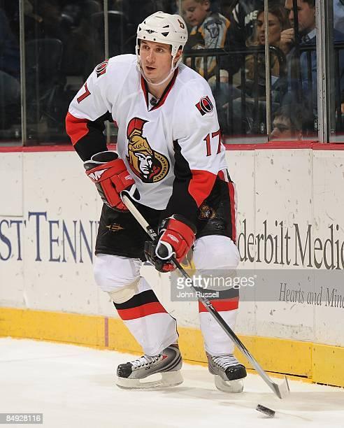 Filip Kuba of the Ottawa Senators skates against the Nashville Predators on February 16 2009 at the Sommet Center in Nashville Tennessee