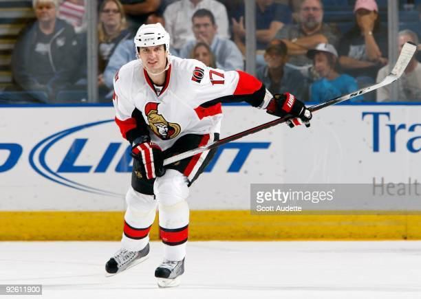 Filip Kuba of the Ottawa Senators skates against the Tampa Bay Lightning at the St Pete Times Forum on October 29 2009 in Tampa Florida