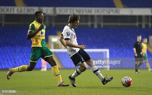 Filip Lesniak of Tottenham Hotspur during the Barclays U21 Premier League match between Tottenham Hotspur and Norwich City at White Hart Lane on...
