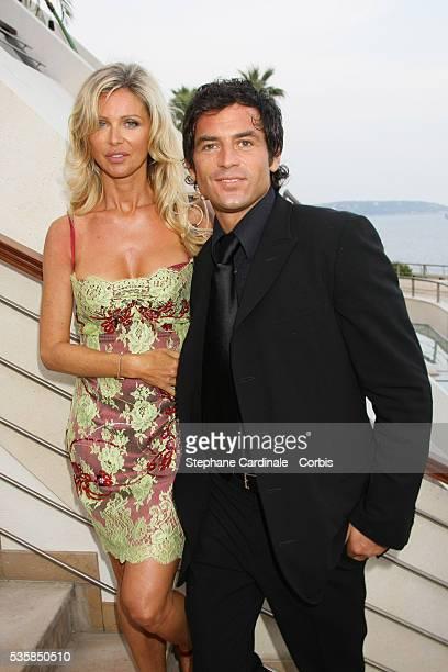 Filip Nikolic and friend attend the TF1 premiere of 'Mystere'