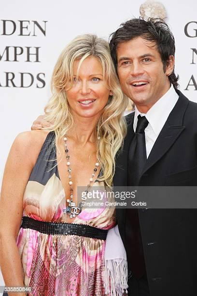 Filip Nikolic arrives with his wife at the closing ceremony of the 47th annual Monte Carlo Television Festival held at Grimaldi Forum